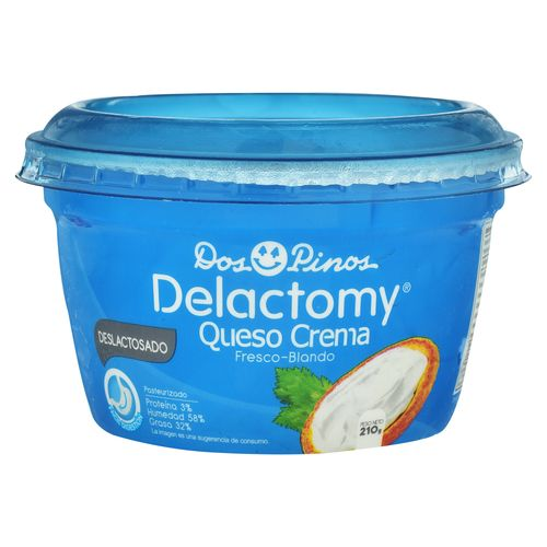 Queso Crema Dos Pinos Delactomy 210 Gr