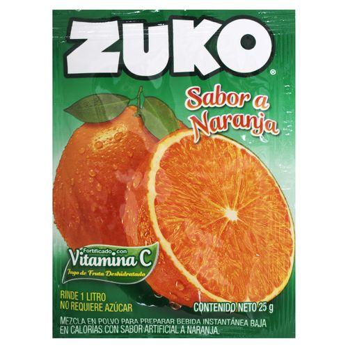 Bebida En Polvo Zuko Naranja - 25 gr