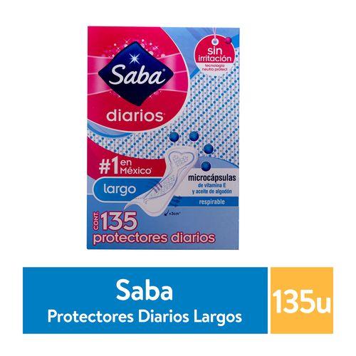 Protector Saba Diario Largo - 135 unidades