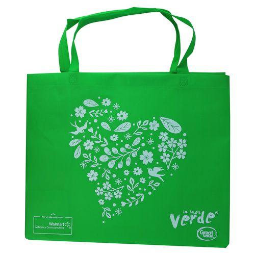 Bolsa Verde Grande Reutilizable