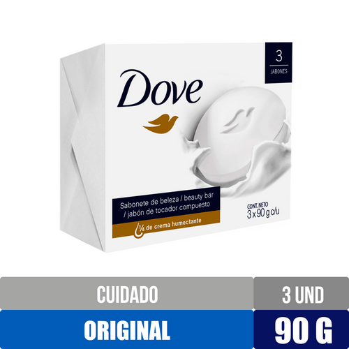 3 Pack Jabon Dove Blanco Cremoso - 270gr