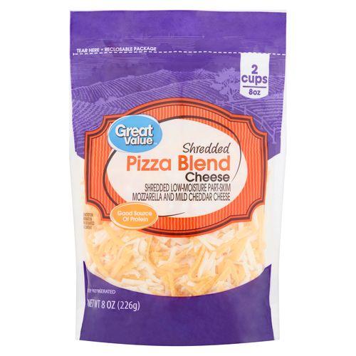 Queso Great Value Rallado Para Pizza - 227Gr