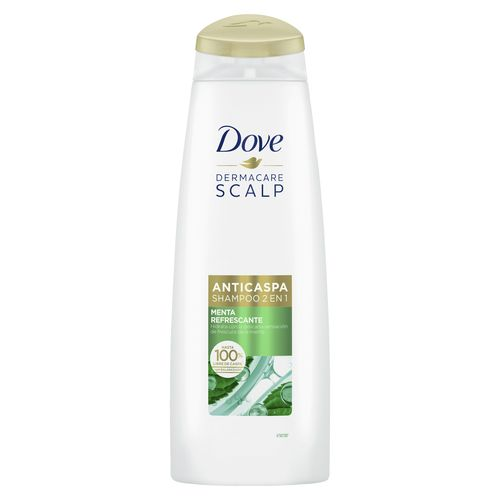 Shampoo Dove Anticaspa Menta Refrescante 2En1 355Ml