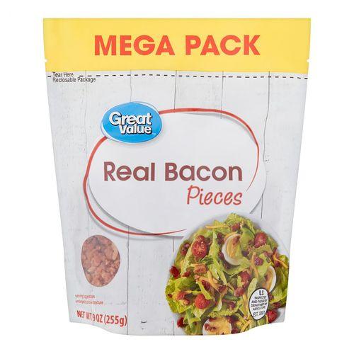 Bacon Great Value Trocitos De Tocineta - 255gr