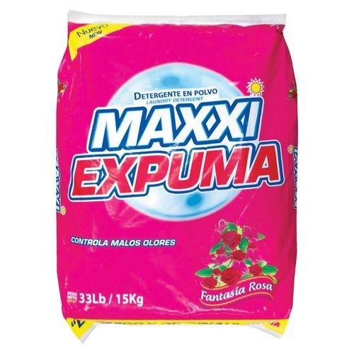 Detergente Polvo Maxxi Expuma Fantasia Rosa - 15Kg