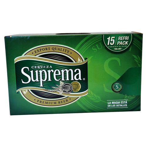 Cerveza Suprema 15 Pack Lata 355Ml