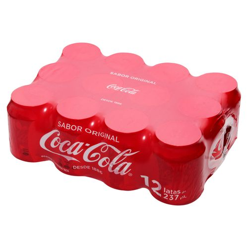 12 Pack Gaseosa Coca Cola Mini Lata - 2844Ml