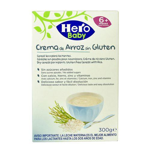 Cereal Hero Baby Cre Arroz S Glutn 300Gr